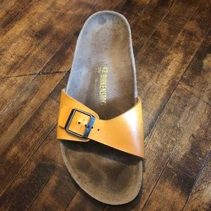 Birkenstock SINGLE (1) Madrid Orange Strap Sandal